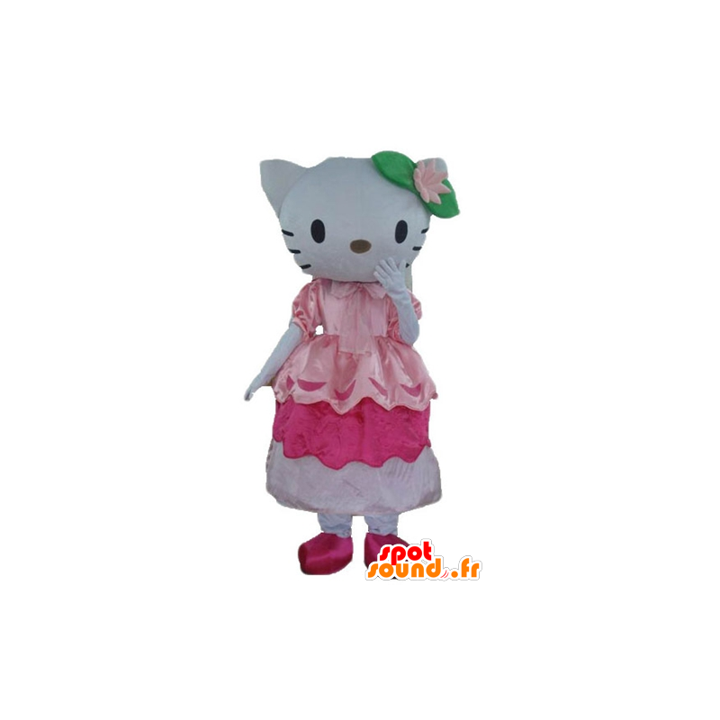 Mascot of the famous cat Hello Kitty in pink dress - MASFR23363 - Mascots Hello Kitty