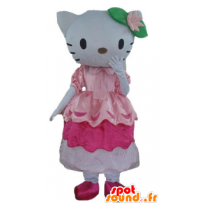 Mascotte du célèbre chat Hello Kitty en robe rose - MASFR23363 - Mascottes Hello Kitty