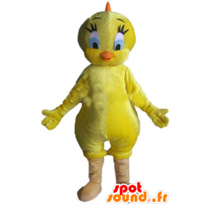 Titi mascot, famous canary yellow Looney Tunes