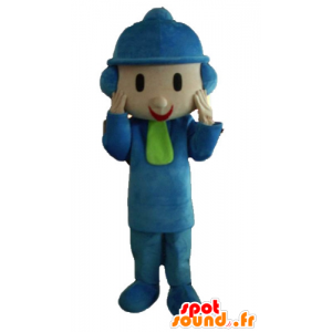 Child mascot dressed in winter attire with a hat - MASFR23369 - Mascots child