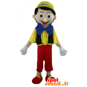 Mascot av Pinocchio, den berømte tegneseriefigur