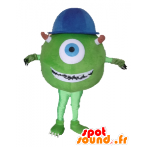 Mascot Mike Wazowski beroemde personage uit Monsters en Co. - MASFR23377 - Monster & Cie Mascottes