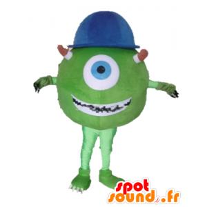 Mascot Mike Wazowski famoso personaje de Monsters and Co. - MASFR23377 - CIE & mascotas monstruo