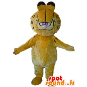 Garfield μασκότ, διάσημη πορτοκαλί γάτα κινούμενων σχεδίων