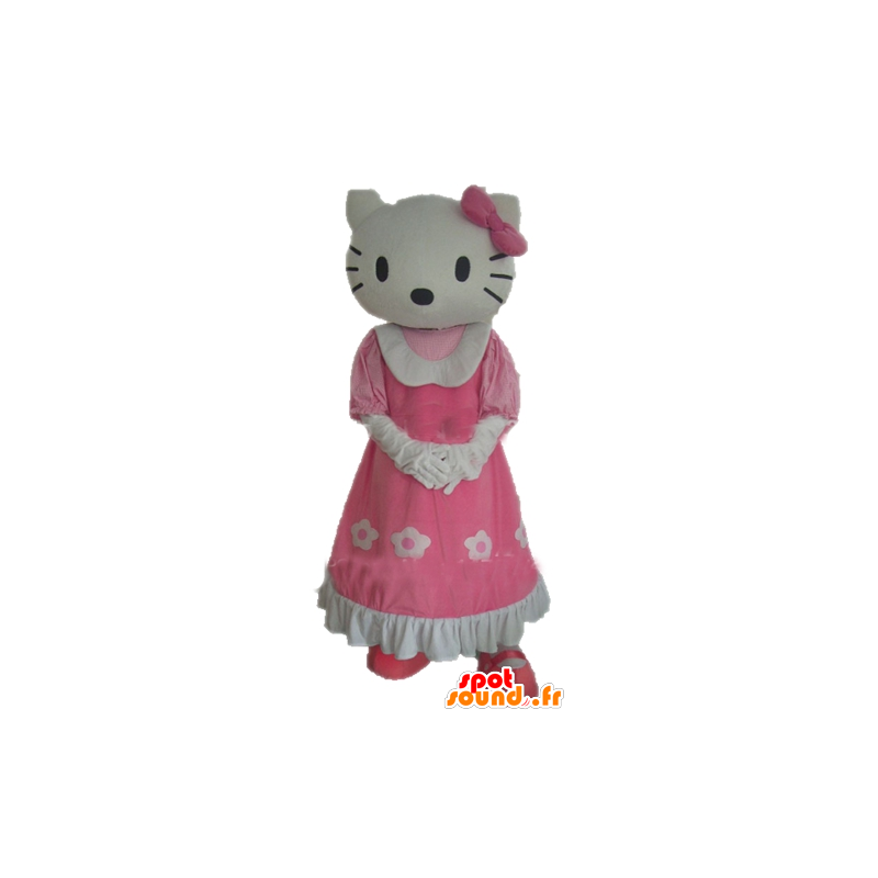 Mascot Hello Kitty, the famous cartoon cat - MASFR23386 - Mascots Hello Kitty
