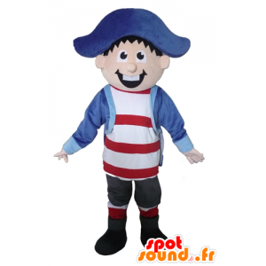 Marino mascotte, capitano, pirata, allegro - MASFR23392 - Mascottes de Pirate