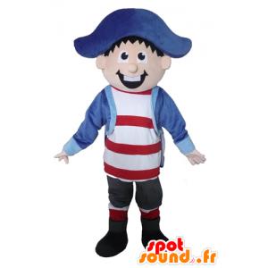 Mascotte de marin, de capitaine, de pirate, très souriant - MASFR23392 - Mascottes de Pirates