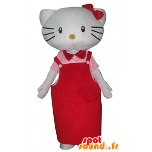 Mascot Hello Kitty, the famous Japanese cartoon cat