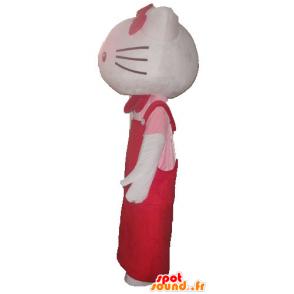 Mascot Hello Kitty, the famous Japanese cartoon cat - MASFR23399 - Mascots Hello Kitty