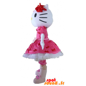 Mascot Hello Kitty, the famous Japanese cartoon cat - MASFR23400 - Mascots Hello Kitty