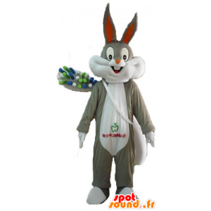 Bugs Bunny mascot with a giant toothbrush - MASFR23404 - Bugs Bunny mascots
