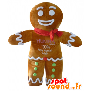 Ti cookie maskot, kjent pepperkaker i Shrek - MASFR23410 - Shrek Maskoter