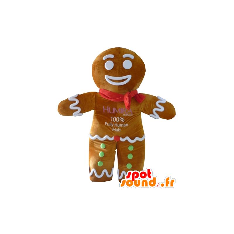 Ti μπισκότο μασκότ, διάσημη μελόψωμο στο Shrek - MASFR23410 - Σρεκ Μασκότ