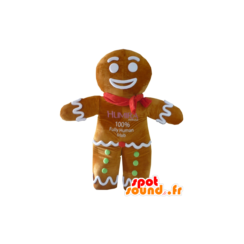 Ti cookie mascot, famous gingerbread in Shrek - MASFR23410 - Mascots Shrek