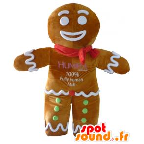 Mascotte de Ti biscuit, célèbre pain d'épices dans Shrek - MASFR23410 - Mascottes Shrek