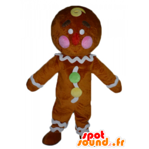 Ti cookie maskot, kjent pepperkaker i Shrek - MASFR23417 - Shrek Maskoter