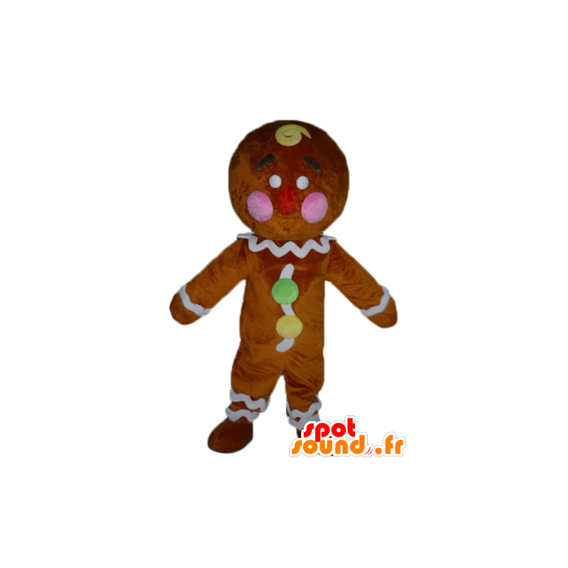 Ti koekje mascotte, beroemde peperkoek in Shrek - MASFR23417 - Shrek Mascottes