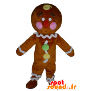 Ti cookie mascot, famous gingerbread in Shrek - MASFR23417 - Mascots Shrek