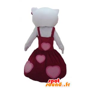 Mascot Hello Kitty kledd i en vakker rød kjole - MASFR23437 - Hello Kitty Maskoter