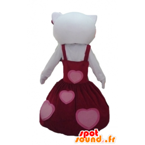 Mascotte Hello Kitty, habillée d'une belle robe rouge - MASFR23437 - Mascottes Hello Kitty
