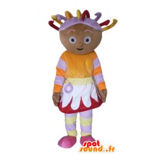 Mascot afrikansk jente i fargerike antrekk, med dreads - MASFR23439 - Maskoter gutter og jenter