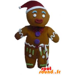 Mascotte de Ti biscuit, célèbre pain d'épices dans Shrek - MASFR23443 - Mascottes Shrek