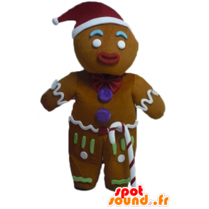 Ti cookie mascot, famous gingerbread in Shrek - MASFR23443 - Mascots Shrek