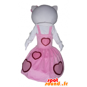 Mascotte d'Hello Kitty, habillée d'une robe rose - MASFR23445 - Mascottes Hello Kitty