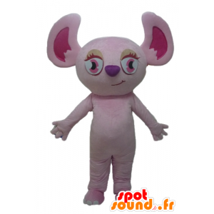 Mascot rosa koala, rosa Eichhörnchen