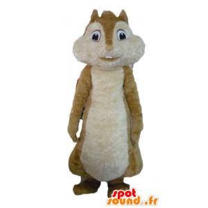 Mascot ruskea orava, Alvin ja pikkuoravat