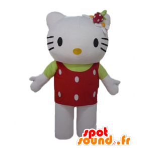 Hello Kitty mascot with a red top with white dots - MASFR23464 - Mascots Hello Kitty