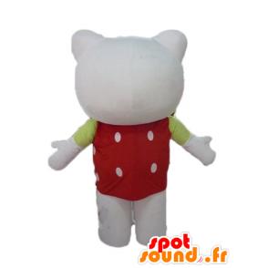 Mascotte hello Kitty, avec un haut rouge à pois blancs - MASFR23464 - Mascottes Hello Kitty
