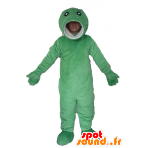 オリジナルと面白いの大きな緑の魚のマスコット、