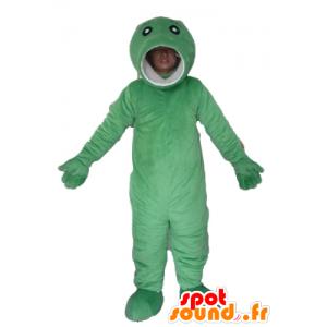 Große grüne Fisch Maskottchen, originell und lustig