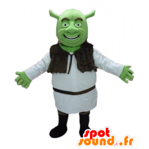 Maskot Shrek, slavný zelený zlobr karikatura - MASFR23476 - Shrek Maskoti