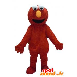 Elmo mascote, fantoche, monstro vermelho