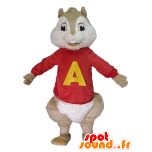 Brown squirrel mascot, Alvin and the Chipmunks - MASFR23485 - Mascots squirrel
