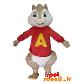 Brown squirrel mascot, Alvin and the Chipmunks - MASFR23485 - Mascots squirrel