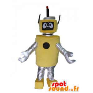 Mascot big yellow and silver robot, beautiful and original - MASFR23487 - Mascots of Robots