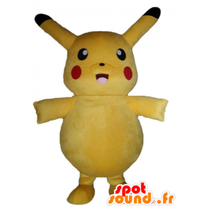 Mascot Pikachu famous yellow Pokemeon cartoon