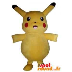 Mascot Pikachu keltainen Pokemeon kuuluisa sarjakuva