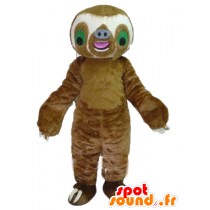 Lazy giant mascot, brown and white - MASFR23499 - Lazy mascots