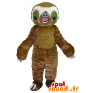 Pigro gigante mascotte, marrone e bianco - MASFR23499 - Mascotte pigri