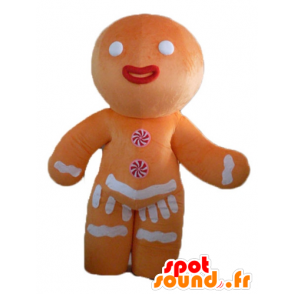 Ti cookie mascot, famous gingerbread in Shrek - MASFR23503 - Mascots Shrek