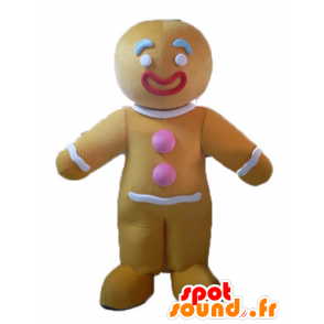 Ti cookie mascot, famous gingerbread in Shrek - MASFR23505 - Mascots Shrek