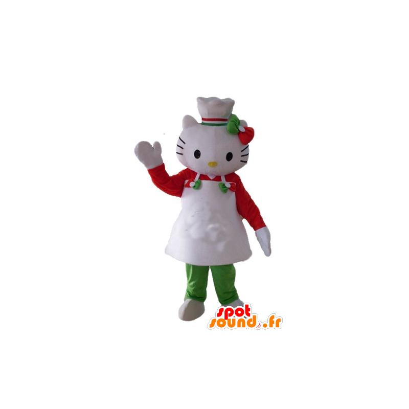 Mascotte Hello Kitty, avec un tablier et une toque - MASFR23507 - Mascottes Hello Kitty