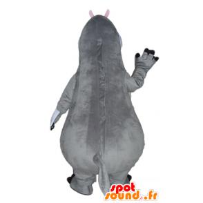 Gloria mascot, hippopotamus cartoon Madagascar - MASFR23528 - Mascots hippopotamus