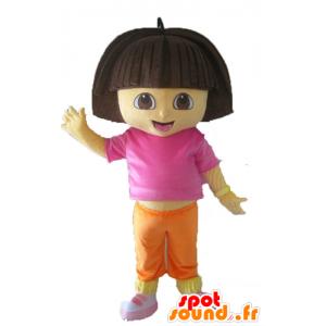 Mascotte de Dora l'exploratrice, célèbre fille de dessin animé - MASFR23533 - Mascottes Dora et Diego