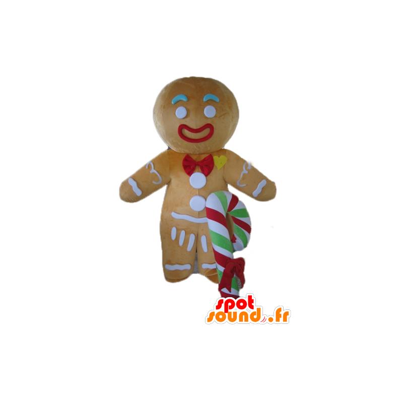 Ti mascote biscoito, famoso pão de gengibre em Shrek - MASFR23536 - Shrek Mascotes