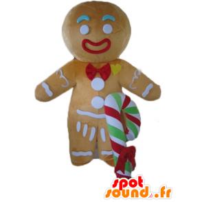 Ti μπισκότο μασκότ, διάσημη μελόψωμο στο Shrek - MASFR23536 - Σρεκ Μασκότ